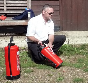 Fire safety course in action