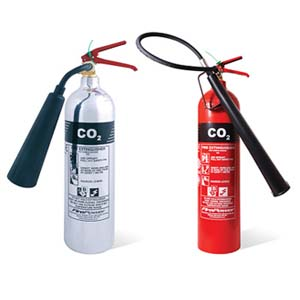 Carbon dioxide fire extinguishers CO2